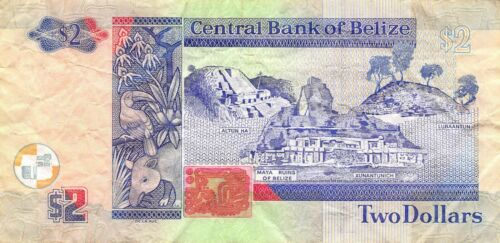 Belize  $2  1.11.2014  Series  DM  Circulated Banknote MSP29