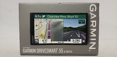 "Garmin DriveSmart 55 Ex 5.5"" Display GPS Navigator with Real Time Traffic"