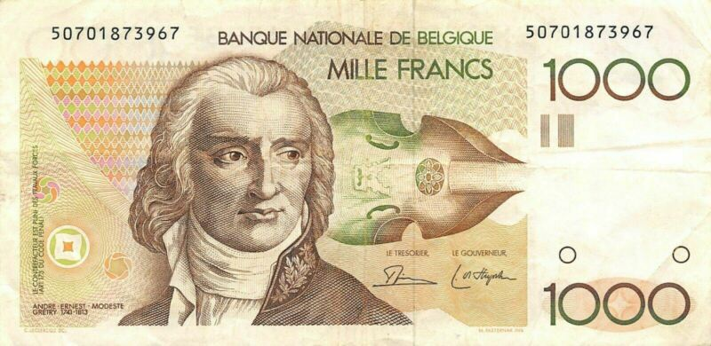 Belgium  1000  Francs  ND. 1980  P 144a  Circulated Banknote AE2