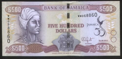 Jamaika 500 Dollars 2012 Pick 91 UNC Series ZA