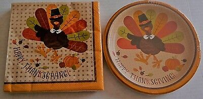 THANKSGIVING Paper Plate and Napkin Set  HAPPY THANKSGIVING/THANKSGIVING -