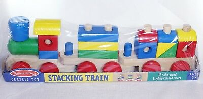 Melissa and Doug Wooden Stacking Train - Classic Toy (Melissa And Doug Stacking Train)
