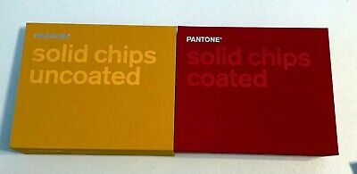 Pantone Solid Coated Uncoated Chips Paint Books Slightly Used Incomplete