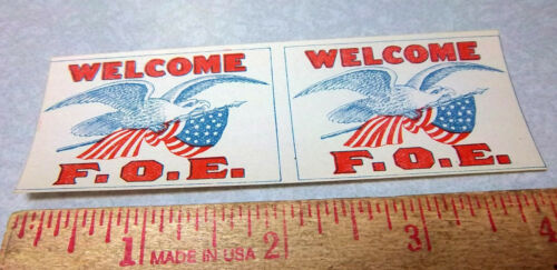 FOE Fraternal Order Of Eagles 1900s mini paper flags, NEW, rare collectible item