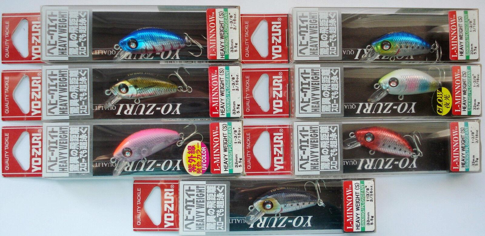 Killer YO-ZURI L-Minnow 33S Japan Wobbler Raubfische Barsch Köder Forelle