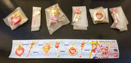 Brand New Sailor Moon Die-Cast Charm 2 Full Set - U.S. Collector!!