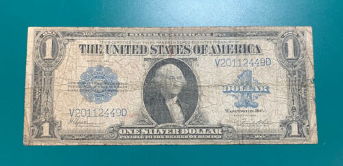 1923 $1 Silver Certificate Large Size Note Horse Blanket