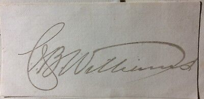 Charles J B Williams - physician extraordinary to Queen Victoria - signature