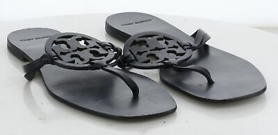 62-62 MSRP $228 Women's Size 8.5 Tory Burch Miller Square Leather Thong Sandal