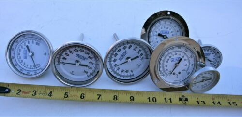 LOT Wika Thermometer Industrial Commercial Temperature Gauge Machine Oven