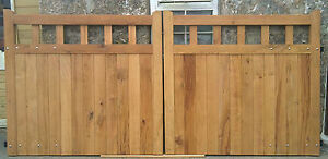 Wooden Open Top Oiled Character Oak Driveway / Estate  Gates, Handmade.