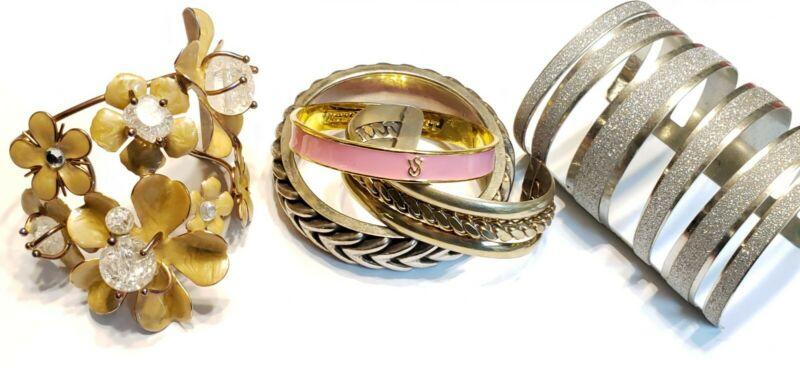 Lot of Chunky Big Bold Bangle/Cuff Bracelets Victoria