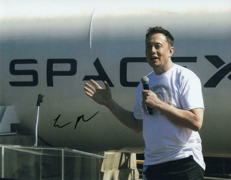 ELON MUSK SIGNED AUTOGRAPH 11X14 PHOTO - SPACEX FOUNDER VERY RARE SIGNATURE ACOA