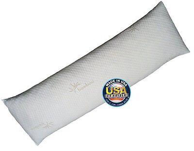 Body Pillow by Snuggle-Pedic - Ultra-Luxury Bamboo Shredded Memory Foam Pillow