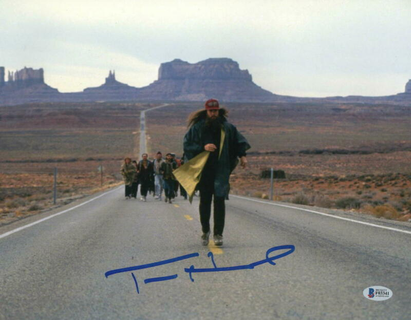TOM HANKS SIGNED 11X14 PHOTO FORREST GUMP AUTHENTIC AUTOGRAPH BECKETT COA H