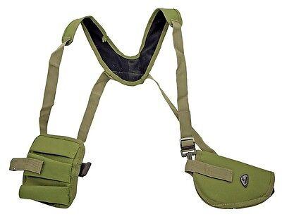 OD Green Gun Shoulder Holster w/ Clip Pouch BB Airsoft Pistol Handgun -