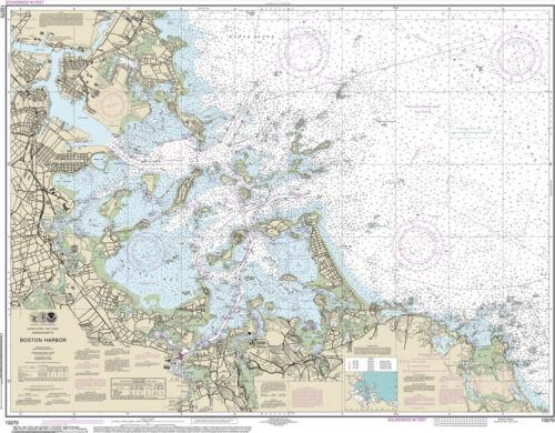 Official Noaa Chart 13270 of Boston Harbor