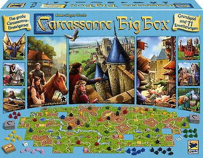 Hans im Glück Familienspiel Strategiespiel Carcassonne Big Box 2017 HIGD0109 (Familienspiele, Brettspiele)