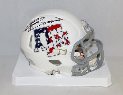 Johnny Manziel Heisman Signed Texas A&M Stars and Stripes Mini Helmet-JSA W