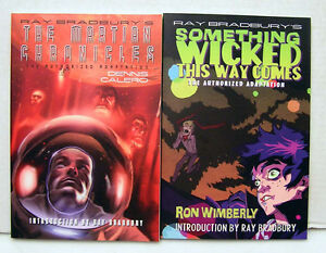 Set-of-2-RAY-BRADBURYS-SOMETHING-WICKED-MARTIAN-CHRONICLES-SC-Book-M1534
