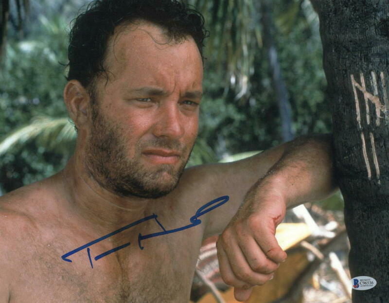 TOM HANKS SIGNED 11X14 PHOTO CAST AWAY AUTHENTIC AUTOGRAPH BECKETT COA
