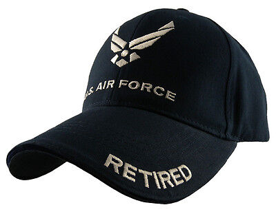 U.S. Air Force Retired Hat / USAF Insignia Baseball Cap