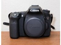 Canon EOS 70D 20.2MP Digital SLR Camera - Black (Body Only) Exc. Condition