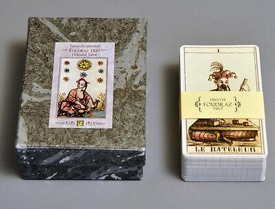 TAROCCHI ORIENTALI DI CLAUDIO FOUDRAZ 1845 ORIENTAL TAROT CARD DECK - 2-PART BOX