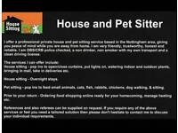 Professional House and Pet Sitter
