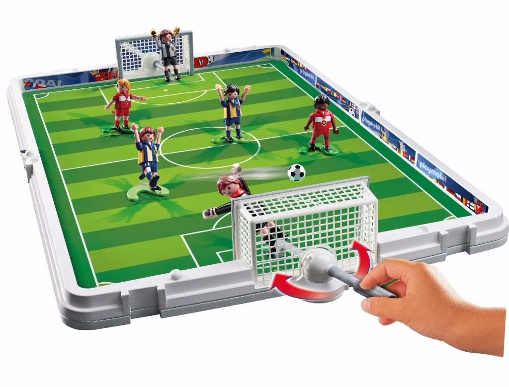 Playmobil 4725 football table portable in glasgow gumtree for Table playmobil