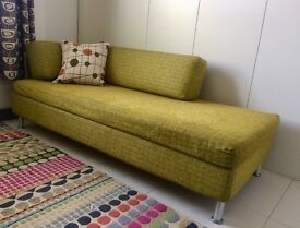 Award Winning Swiss Made Day Bed Sofa, Designers Guild Fabric Upholstry (Double)