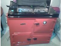 Rayburn Nouvelle cooker Aga gas & electric. Back boiler