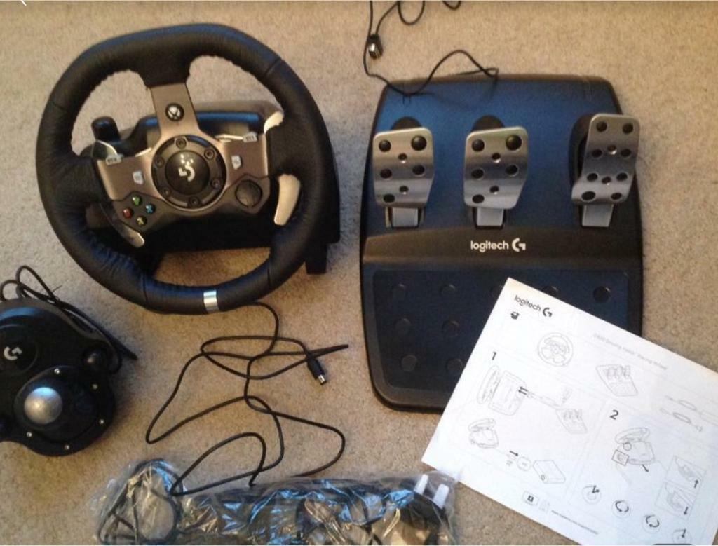 9b74ba53033 Logitech G920 Driving Force racing wheel & shifter ( Xbox & PC ) | in ...
