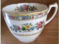 Stunning Vintage Coalport Cup & Saucer with Scallop Edge Design
