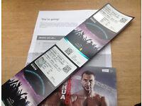 2 x Anthony Joshua v Klitschko Boxing Tickets. Available until advert removed.