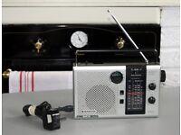 Vintage Sanyo RP8260 Mains/Battery FM/SW/MW/LW Mono Radio