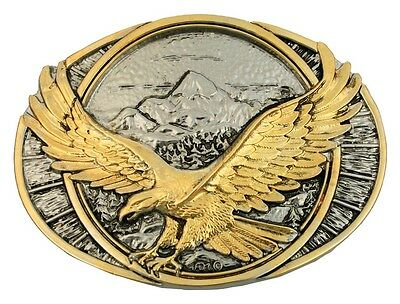 Montana Silversmiths Western Belt Buckle Soaring Eagle Gold 60791P