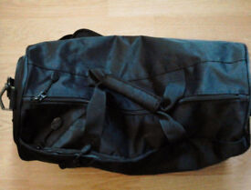 Black PPD Unisex Men Ladies Holdall Weekender Sports Gym Travel Duffle Bag.