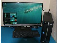 "Desktop PC & 23"" AOC Monitor for sale"