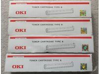 4 x Oki Type 6 Black Toner 00079801 Oki Fax 4500 4550 4580 - Oki Office 84 86 87
