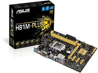 Asus Intel Core H81M-PLUS motherboard plus fan and driver disks boxed