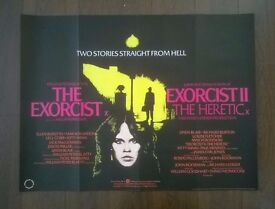 the exorcist / exorcist II ' original movie poster