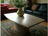 Marble coffee table in excellent condition