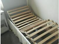 Electric single bed with head board