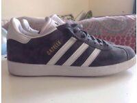Adidas Gazelle Grey Suede 9 real leather