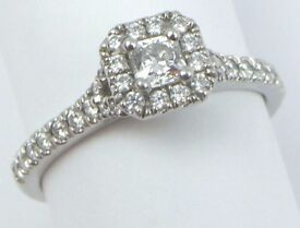 Platinum 950 0.63ct Diamond Set Hearts On Fire Transcend Engagement Ring