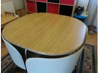 Ikea dinning table with 4 chairs. Excellent condition