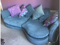 Lounge Suite, 4 Seater and cuddler couch. Great Condition DFS