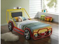 CAR BEDS, RACING BEDS, JEEP BED, CAR BED, WITH PADDED SPRUNG, SINGLE BED, MATTRESS,