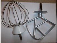 KENWOOD MIXER WHISK AND K BEATER